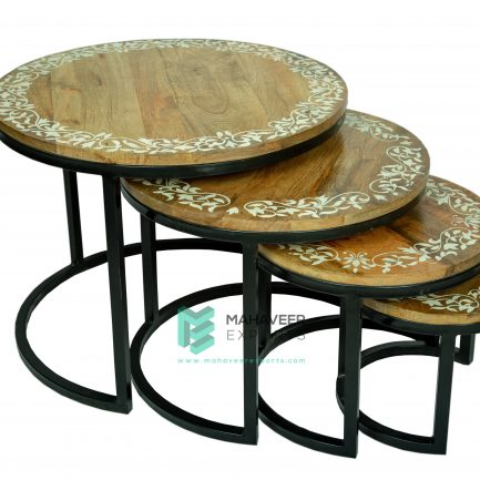 Industrial Painted Nested Tables Set of 4