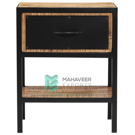 Industrial One Drawer Bedside Table
