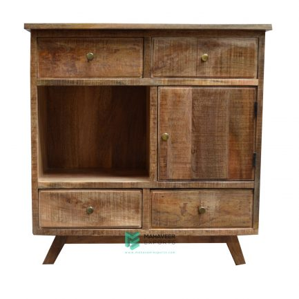 4 Drawer 1 Door Rustic Sideboard