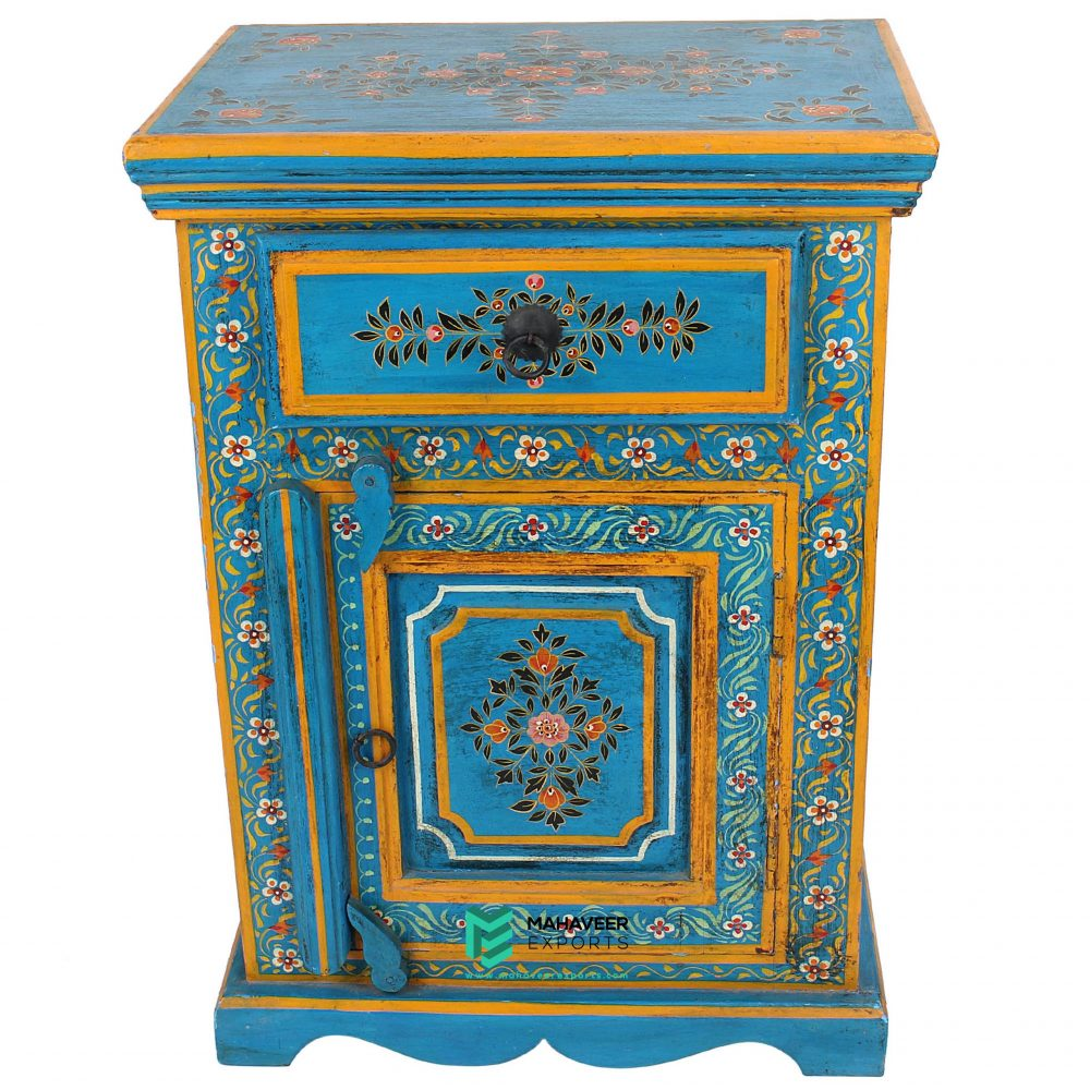 1 Drawer 1 Door Painted Bedside Table