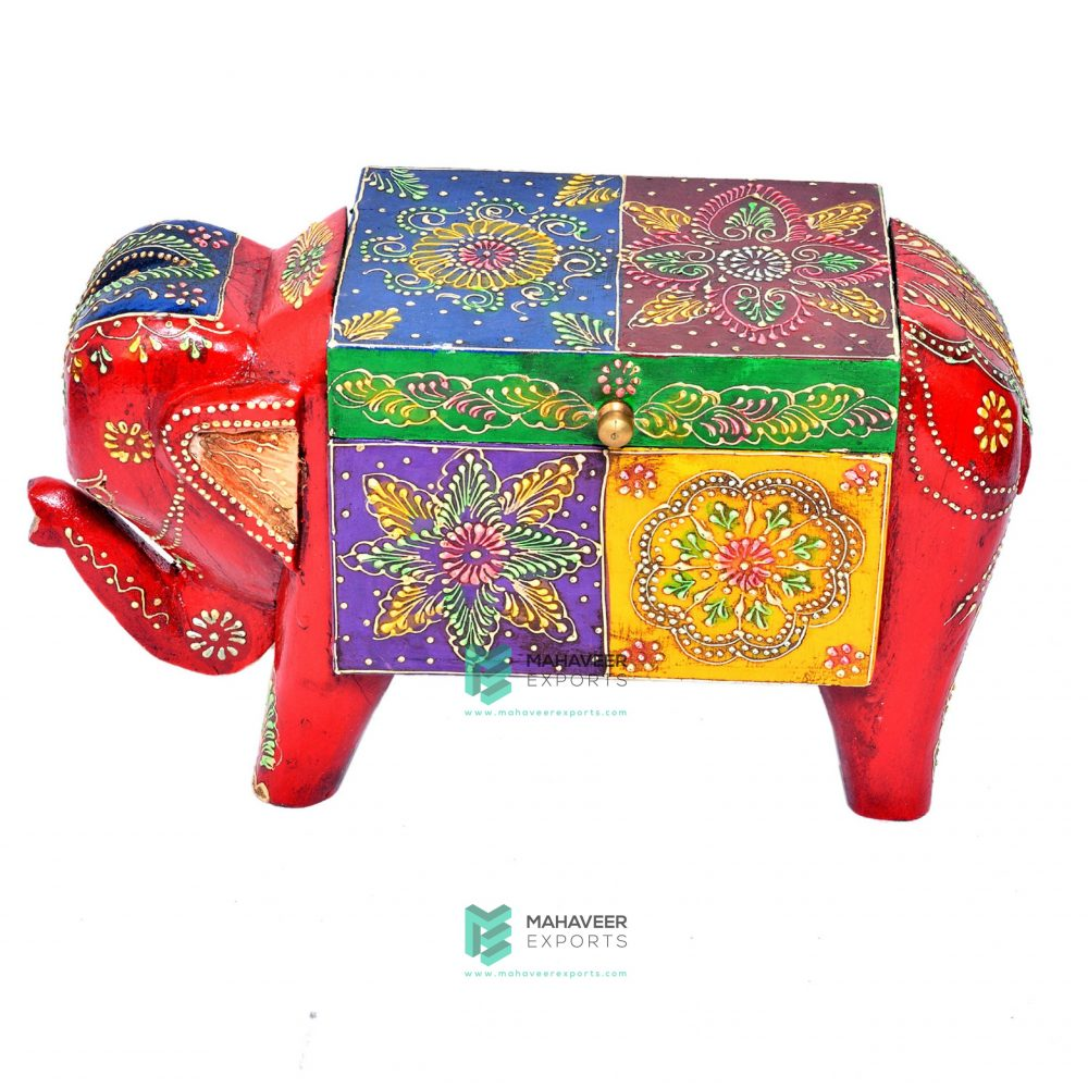 Emboss Painted Elephant Box