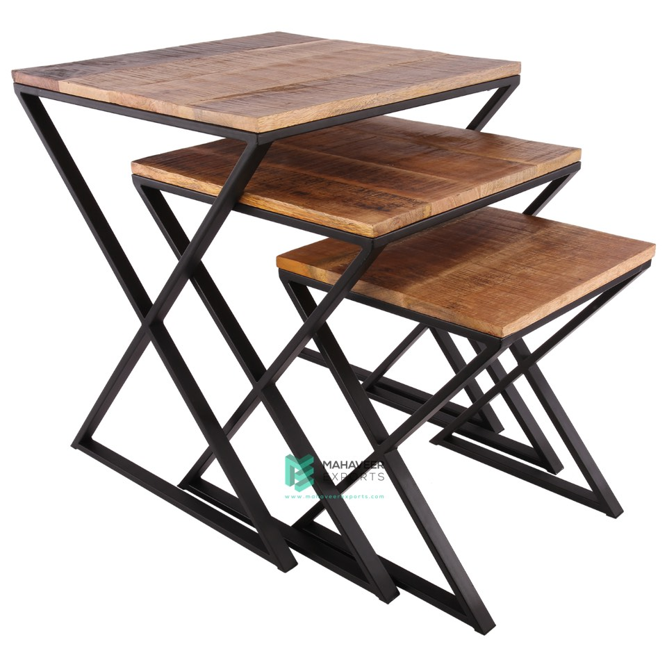 Industrial Nested Tables Set of 3