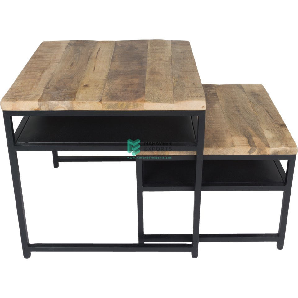 Industrial Coffee Table Set of 2