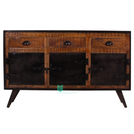 Industrial 3 Drawer 3 Door Sideboard