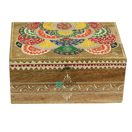 Multicolored Emboss Painted Box