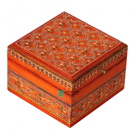 Small Square Emboss Painted Box