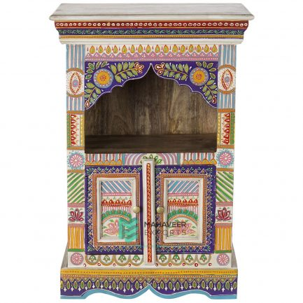 Emboss Painted Oriental Side Table