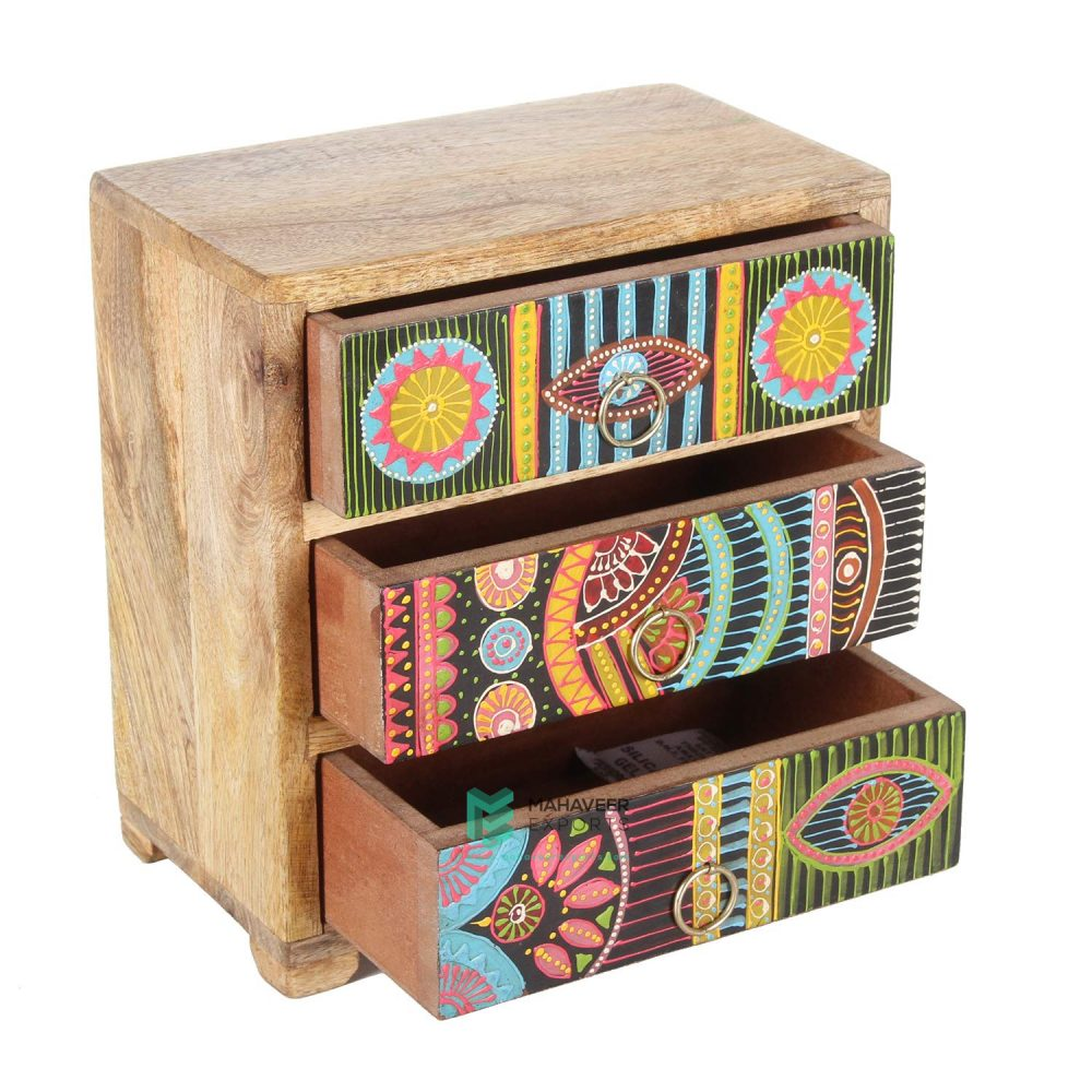 3 Drawer Oriental Chest of Drawers