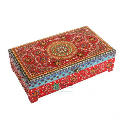 Oriental Painted Kundan Work Box