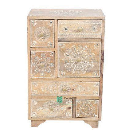 Emboss Painted Chest of Drawers Sideboard