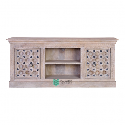 Bakhra Carved TV Cabinet