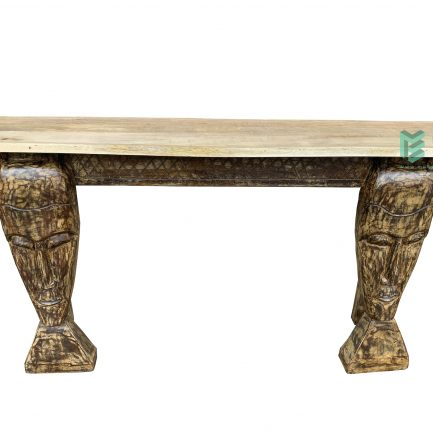 Wooden Face Console Table