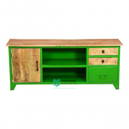 Industrial 3 Drawer 1 Door TV Cabinet