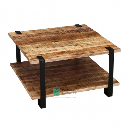 Industrial Rustic Square Coffee Table