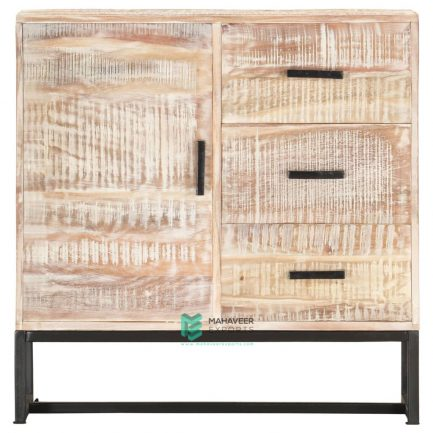 Industrial 3 Drawer 1 Door Rustic Sideboard
