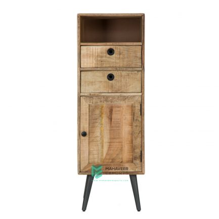 2 Drawer 1 Door Rustic Cabinet