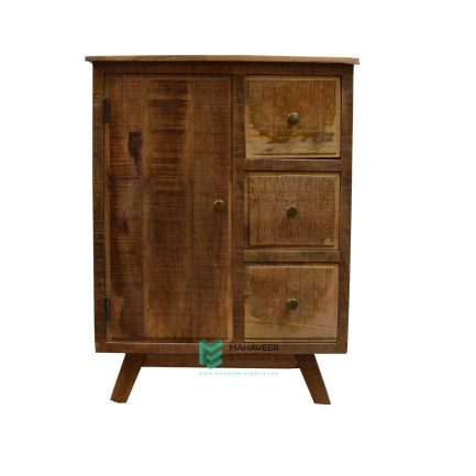 3 Drawer 1 Door Rustic Sideboard