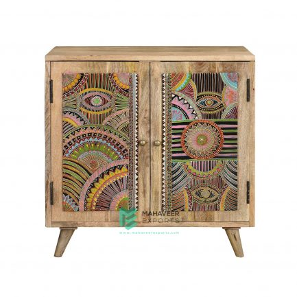 Oriental Painted 2 Drawer Sideboard