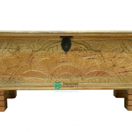 Wooden Carved Chest Box