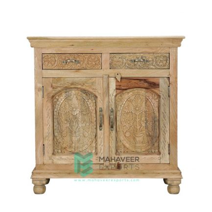 2 Drawer 2 Door Carved Sideboard