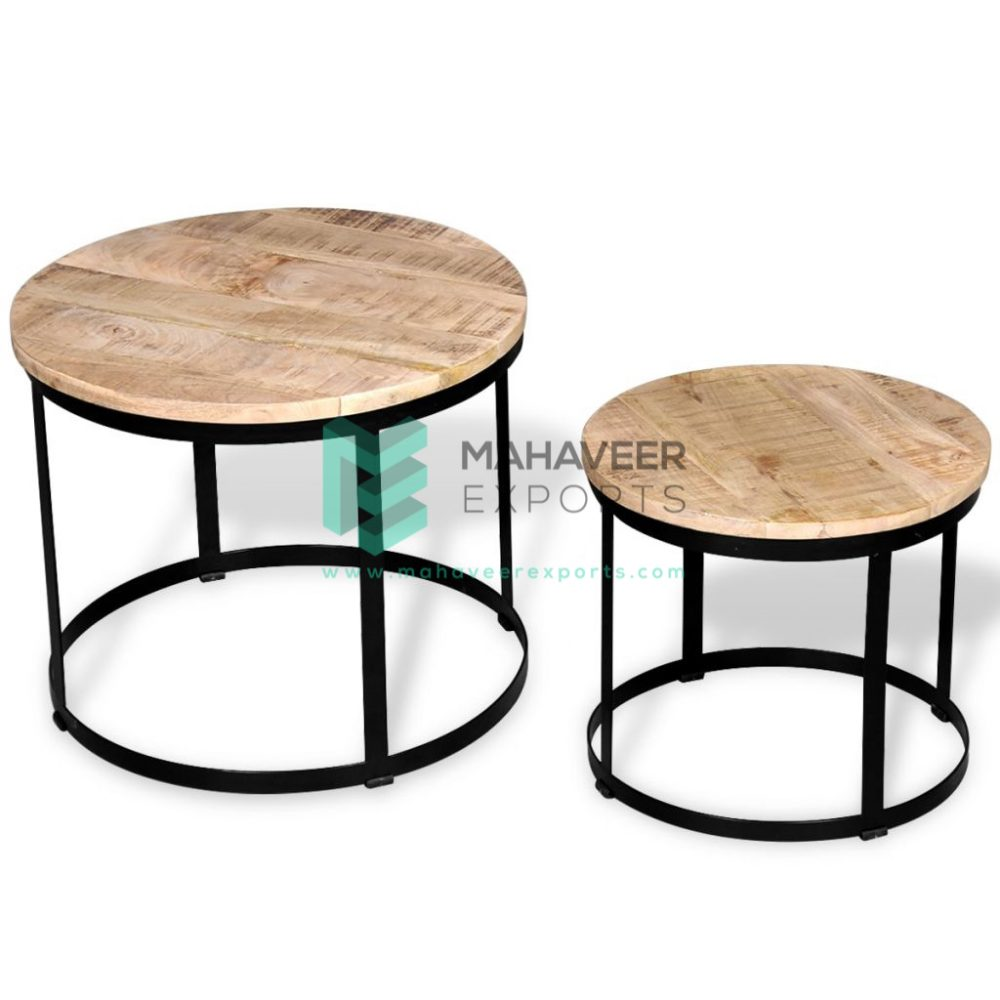 Industrial Nested Tables Set of 2