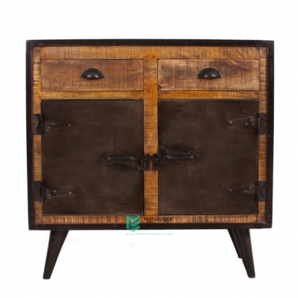 Industrial 2 Drawer 2 Door Sideboard