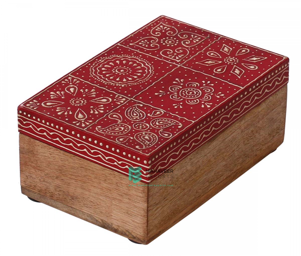 Emboss Red Painted Box
