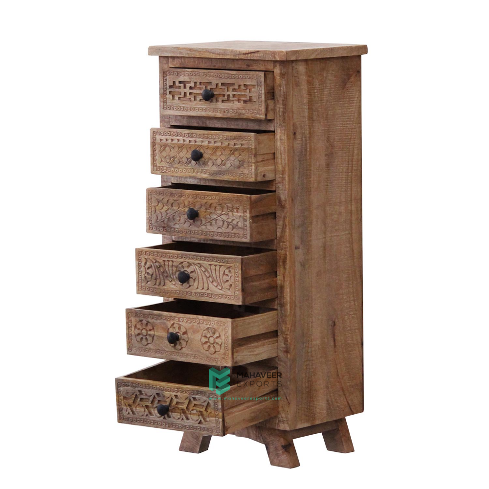 Carved Chest of Drawers Tallboy