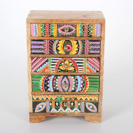 5 Drawer Oriental Chest of Drawers