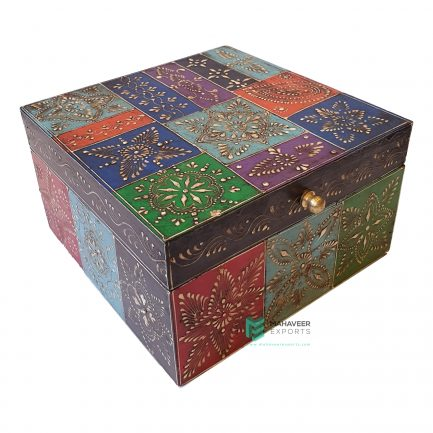 Square Emboss Painted Box