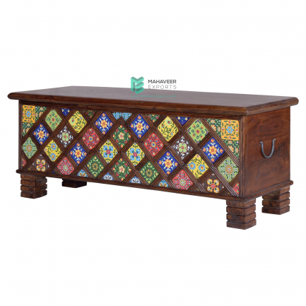 Tile Inlay Chest Box