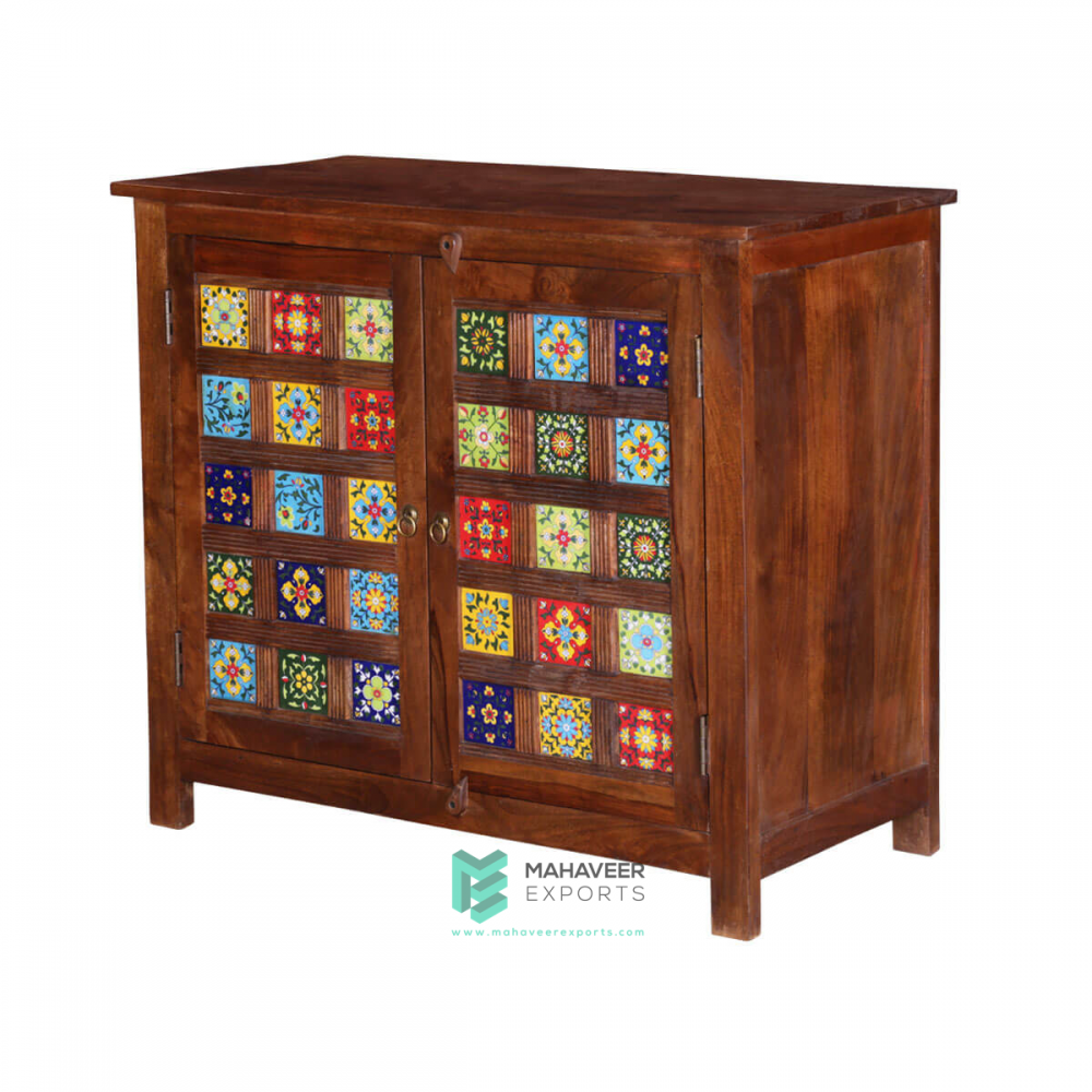 2 Doors Tile Inlay Sideboard