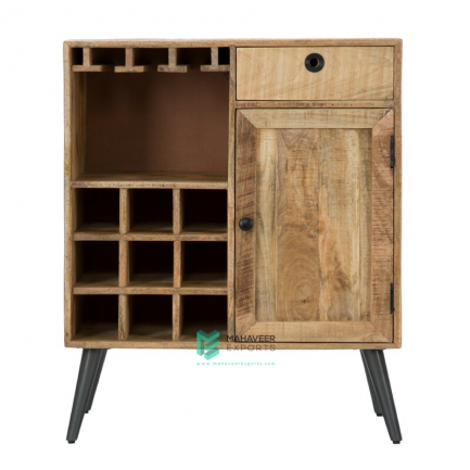 1 Drawer 1 Door Rustic Bar Cabinet
