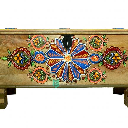 Hand Painted Wooden Chest Box